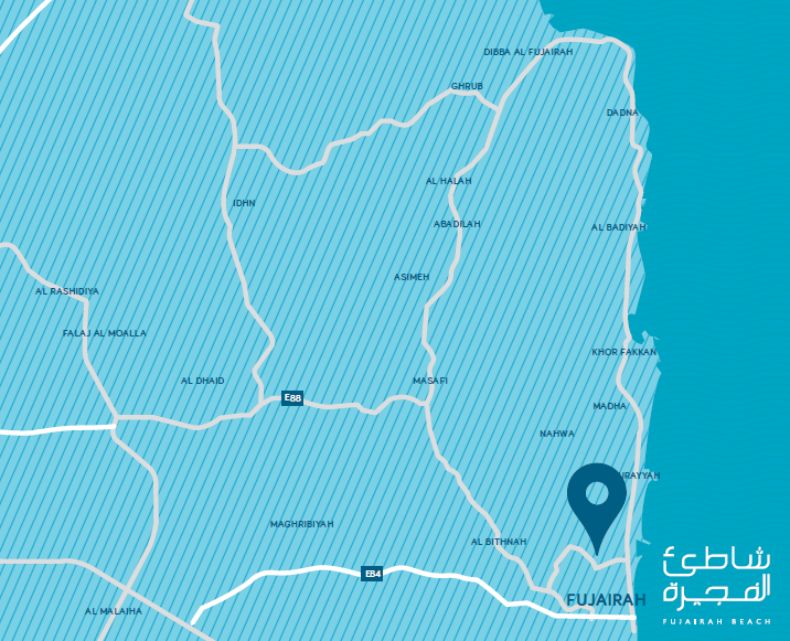 fujairah beach map - Fujairah Beach by Eagle Hills