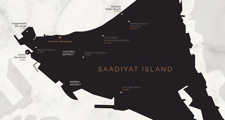 mamsha location - Mamsha at Al Saadiyat Island Abu Dhabi