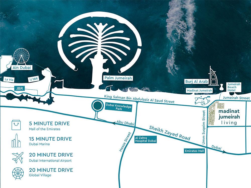 MJL ASAYEL location map - Asayel 3 Madinat Jumeirah Living (MJL) by Dubai Holding
