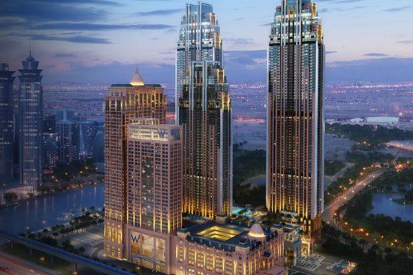 Amna Tower in Al Habtoor City 600x400 - Home Off Plan Dubai