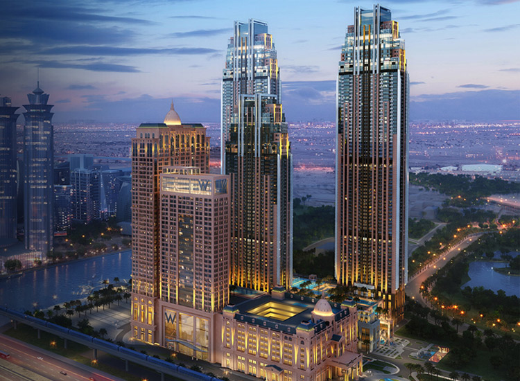 Amna Tower in Al Habtoor City