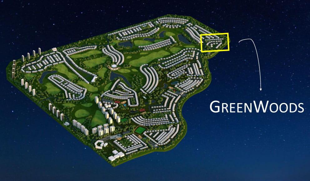 greenwoods location - Greenwoods Villas at Damac Hills